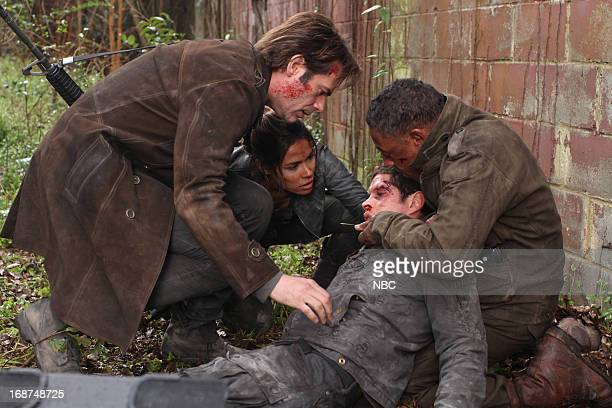 REVOLUTION The Longest Day Episode 117 Pictured Billy Burke as Miles Matheson Daniella Alonso as Nora JD Pardo as Nate Giancarlo Esposito as Captain...