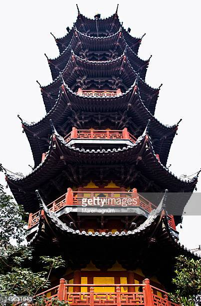 the longhua pagoda, longhua temple - longhua temple stock photos and pictures