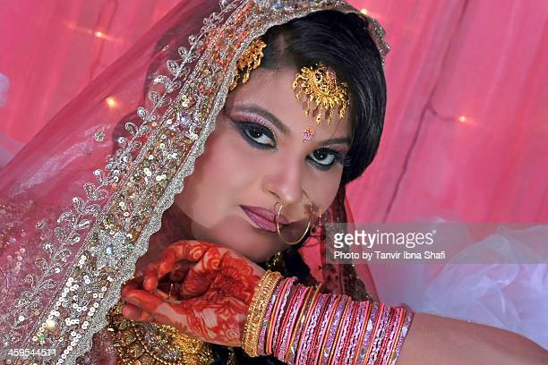 the look - bangladeshi bride stock photos and pictures