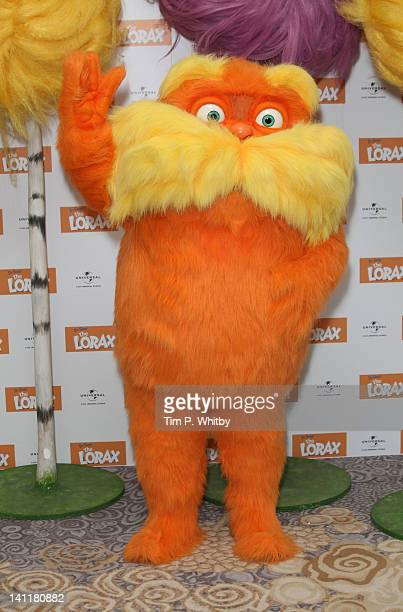 The Lorax attends a photocall to premote the new film The Lorax at The Dorchester Hotel on March 12 2012 in London United Kingdom