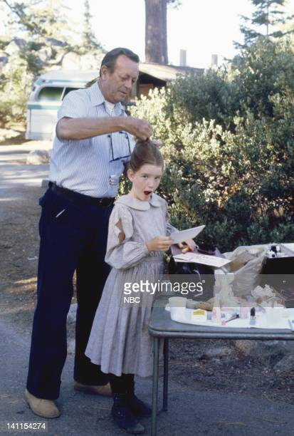 PRAIRIE 'The Lord is My Shepherd Part 2' Episode 14 Air Date Pictured Hair stylist Larry Germain Melissa Gilbert as Laura Ingalls Wilder Photo by...