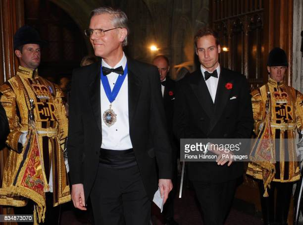 The Lord Mayor of London, David Lewis and Prince William at the Lord Mayor's Appeal 2008 grand finale evening tonight.