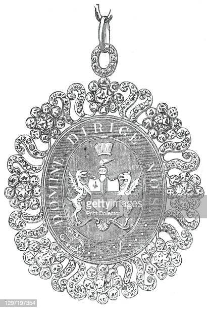 The Lord Mayor's Jewel, 1844. Ceremonial jewellery of the Lord Mayor of the City of London. 'The jewel contains, in the centre, the City arms, cut...