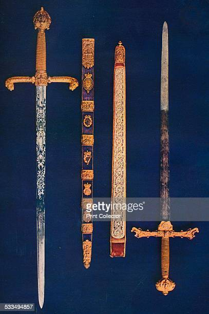 The Lord Mayor's Sword of State and Pearl Sword. The State sword originates from the mid-seventeenth century. The Pearl Sword was used according to...
