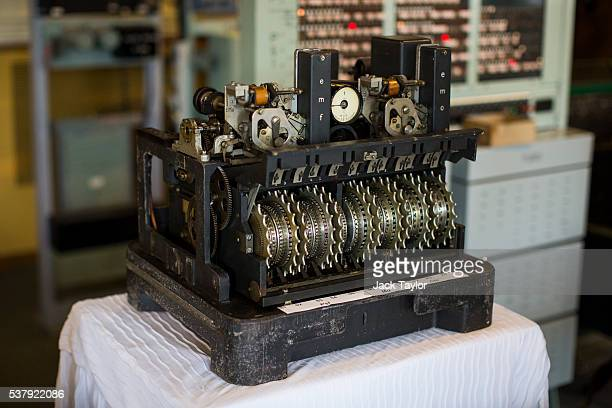 The Lorenz SZ42 German cypher machine pictured at The National Museum of Computing on June 3 2016 in Bletchley England During World War II British...