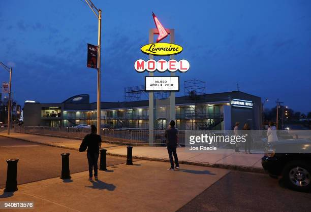 The Lorraine Motel is seen where Dr Martin Luther King Jr was murdered and is now part of the complex of the National Civil Rights Museum as they...