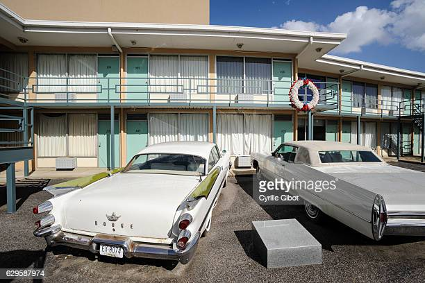the lorraine motel, memphis, tennessee, usa - lorraine motel stock pictures, royalty-free photos & images