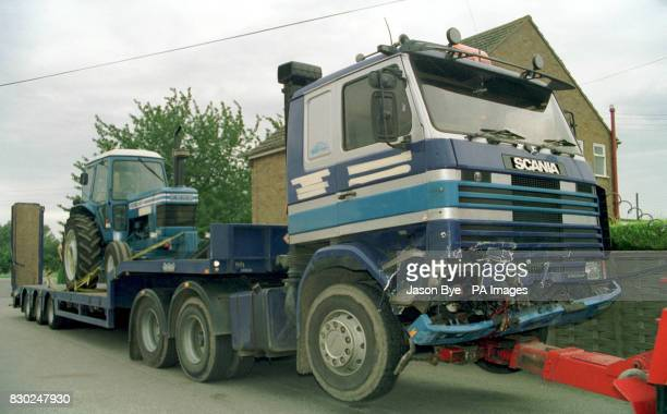 The lorry which crashed headon into a Ford Sierra on the A16 near Boston in Lincolnshire The vehichle was carrying eight children aged between 11 and...