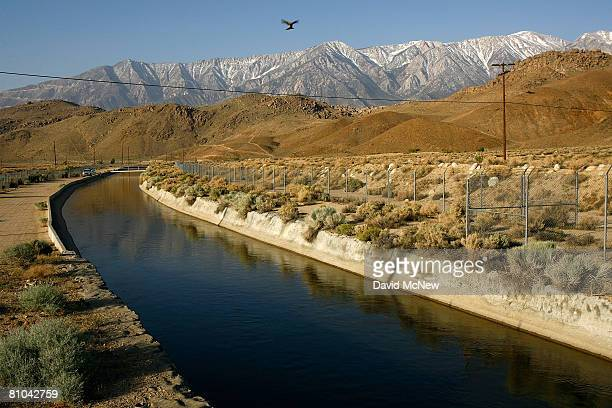 The Los Angeles Aqueduct carries water from the snowcapped Sierra Nevada Mountains which carry less snow than normal to major urban areas of southern...