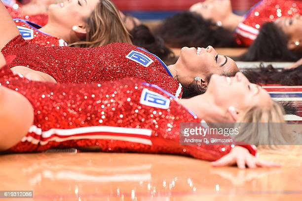 The Los Angeles Clippers dance team performs against the Utah Jazz on October 30 2016 at STAPLES Center in Los Angeles California NOTE TO USER User...