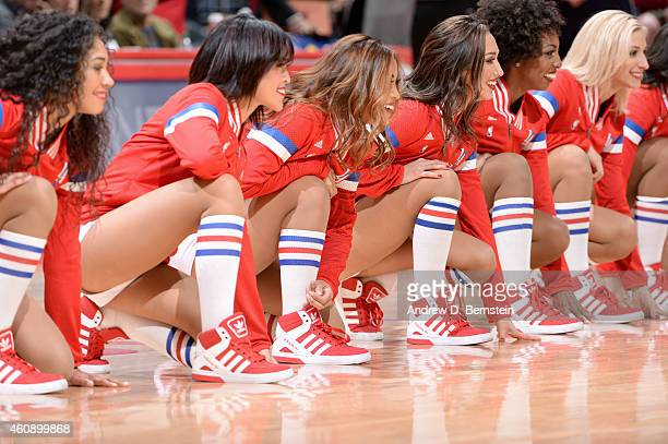 The Los Angeles Clippers dance team performs during a game against the Utah Jazz on December 29 2014 at STAPLES Center in Los Angeles California NOTE...