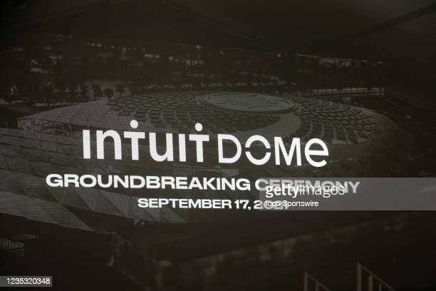 The Los Angeles Clippers Ground breaking Ceremony on September 17 at the Intuit Dome site in Inglewood, CA.
