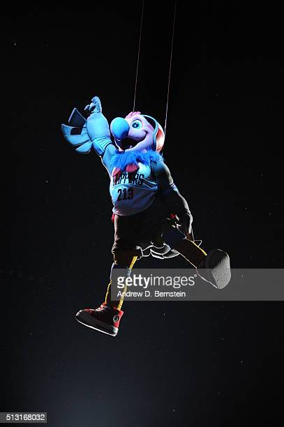 The Los Angeles Clippers mascot during the game against the Brooklyn Nets on February 29 2016 at Staples Center in Los Angeles California NOTE TO...