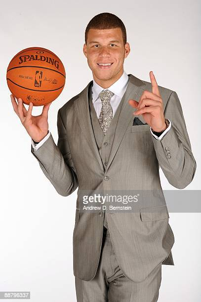 The Los Angeles Clippers number one draft pick Blake Griffin from the University of Oklahoma poses during a photo shoot at the Clippers Training...
