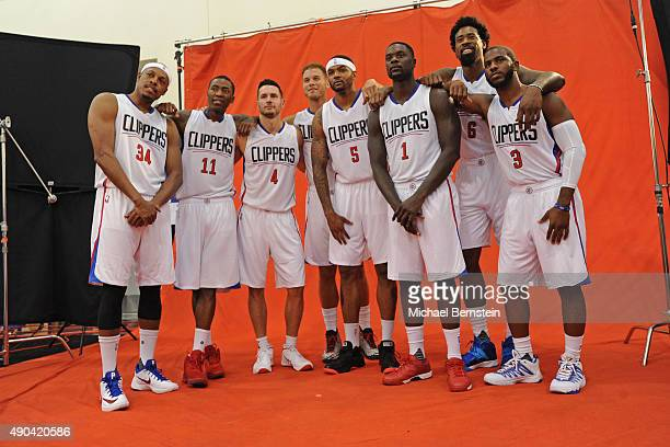 The Los Angeles Clippers pose for a portrait during media day at the Los Angeles Clippers Training Center on September 25 2015 in Playa Vista...