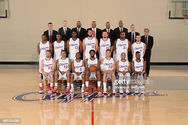 The Los Angeles Clippers pose for a team photo at the Los Angeles Clippers Training Facility on March 06 2015 in Playa Vista California NOTE TO USER...