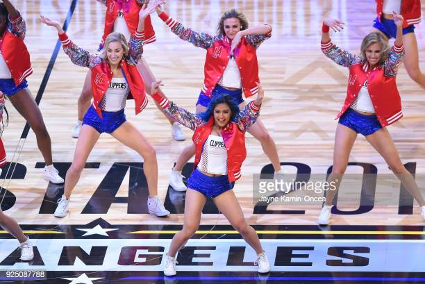 The Los Angeles Clippers spirit dance team performs during the NBA AllStar Game as a part of 2018 NBA AllStar Weekend at STAPLES Center on February...