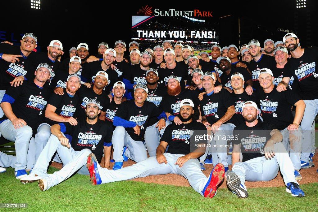 Divisional Round - Los Angeles Dodgers v Atlanta Braves - Game Four : News Photo