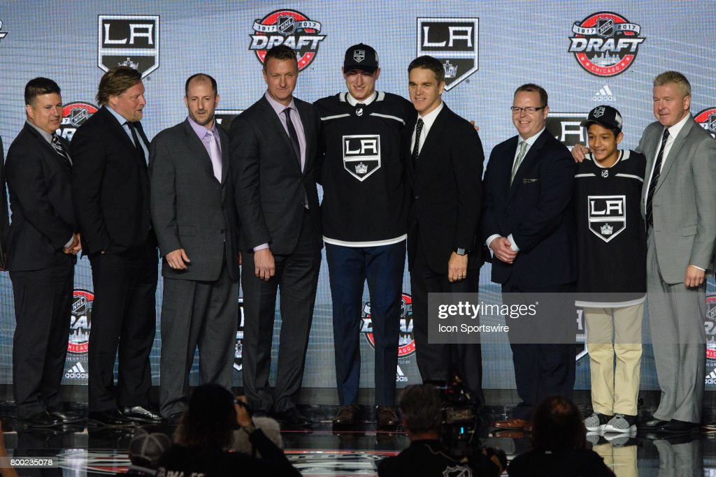 The Los Angeles Kings select center Gabriel Vilardi with the 11th pick in the first round of the 2017 NHL Draft on June 23, 2017, at the United Center in Chicago, IL.