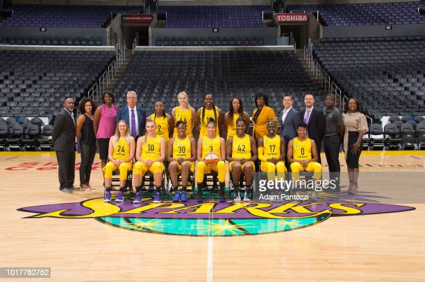 The Los Angeles Sparks pose for a team photo on August 142018 at the Adam Pantozzi in Los Angeles California NOTE TO USER User expressly acknowledges...