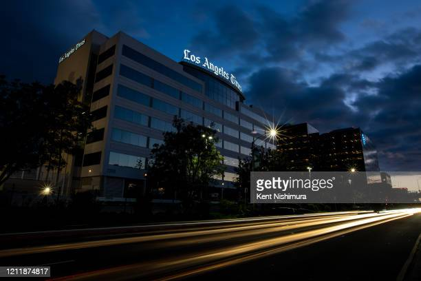 The Los Angeles Times building and newsroom along Imperial Highway on Friday April 17 2020 in El Segundo CA