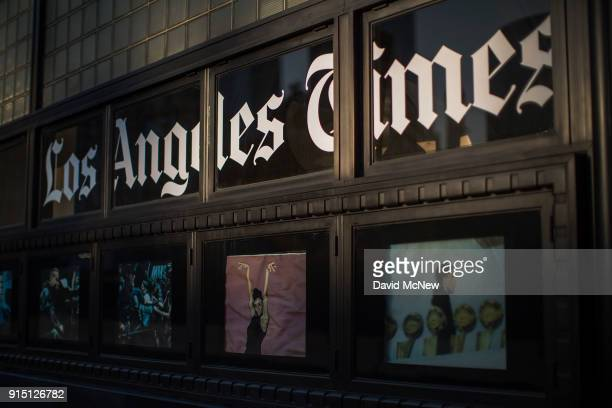 The Los Angeles Times building is seen on February 6 2018 in Los Angeles California Parent company Tronc is believed to be close to selling The Times...