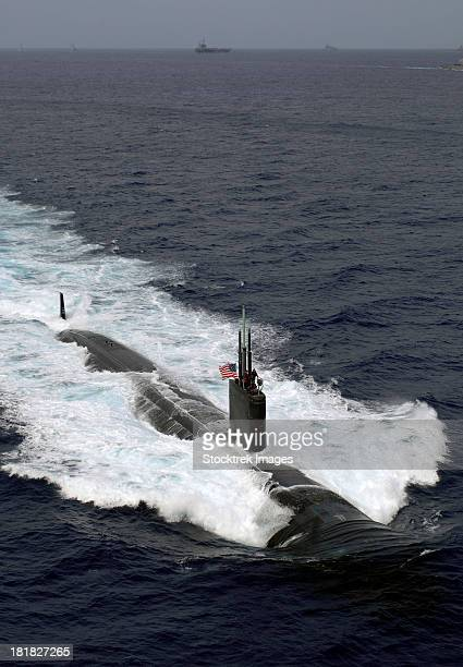 The Los Angeles-class attack submarine USS Asheville.