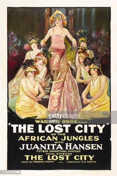 The Lost City Of The African Jungles poster Juanita Hansen center in final episode 'The Lost City' 1920