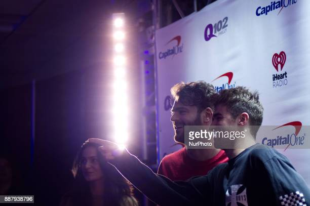 The Lost Kings make a red carpet appearance ahead of the Q102's iHeartRadio Jingle Ball 2017 at the Wells Fargo Center in Philadelphia PA on December...