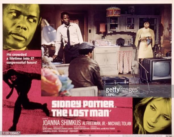The Lost Man lobbycard Sidney Poitier Beverly Todd Joanna Shimkus movie poster art 1969