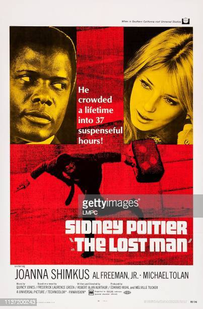 The Lost Man, poster, US poster art, from left: Sidney Poitier, Joanna Shimkus, 1969.