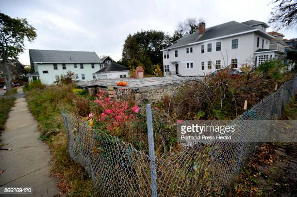 The lot on Noyes St in Portland where six young adults perished after a fire engulfed a duplex in 2014Tuesday October 24 2017