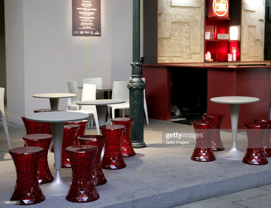 The Lotus bar lounge is seen in Bryant Park during the