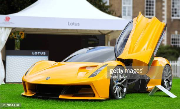 The Lotus Evija seen at London Concours. Each year some of the rarest cars are displayed at the Honourable Artillery Company grounds in London.