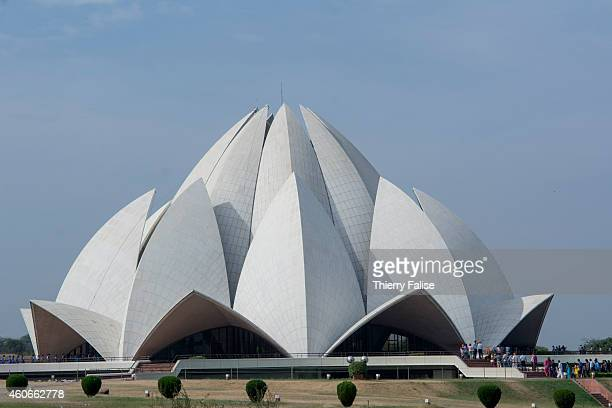 The Lotus Temple a Bahai faith house of worship was open in 1986 in New Delhi