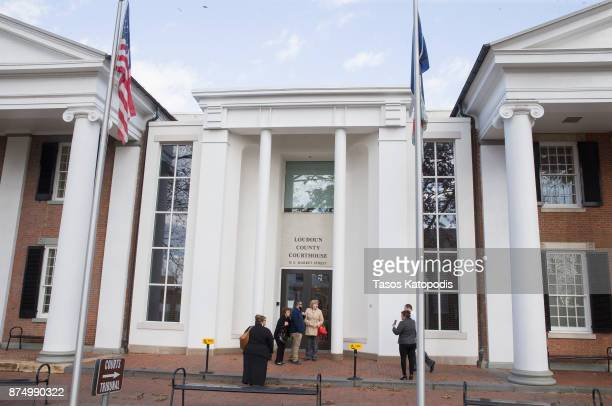 The Loudoun County Courthouse on November 16 2017 in Leesburg Virginia Rose McGowan is in court to be arraigned for felony possession of a controlled...