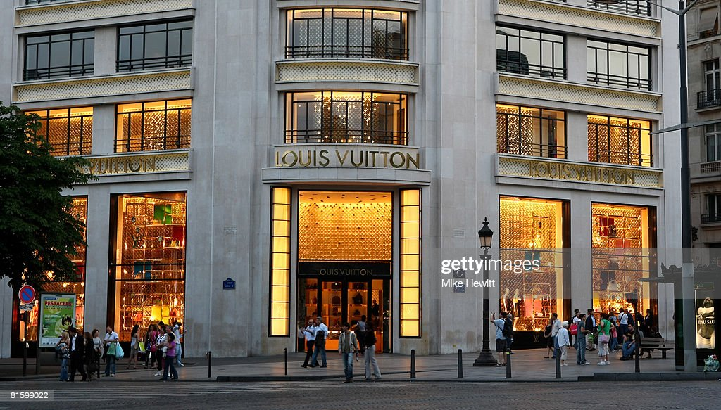 The Louis Vuitton department store on the Champs-Elysees on June 9, 2008 in Paris, France.