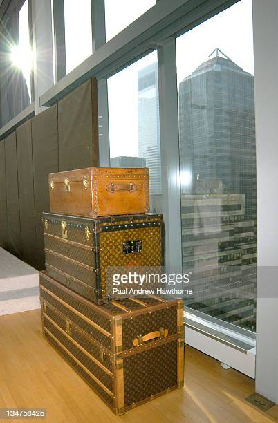 The Louis Vuitton trunks during Louis Vuitton Kicks Off 150th Anniversary by Opening Its Largest Store in New York City Press Conference at The Tower...