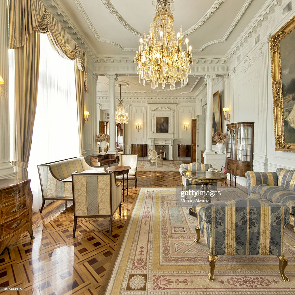 The Lounge of Royal Family in Magdalena Palace : Stock Photo