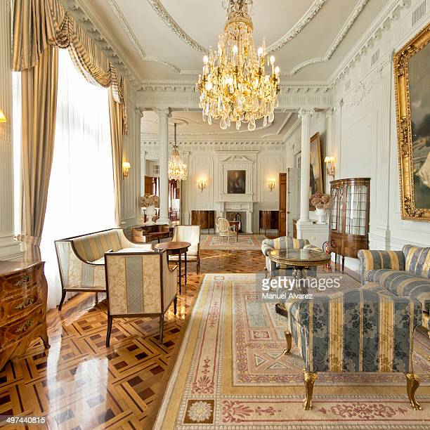 the lounge of royal family in magdalena palace - royalty stock pictures, royalty-free photos & images