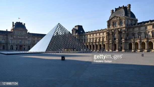 The Louvre Museum during the confinement of the French due to an outbreak of the coronavirus on April 20, 2020 in Paris, France.