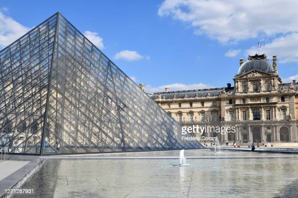 The Louvre Museum in Paris on September 04, 2020 in Paris, France.