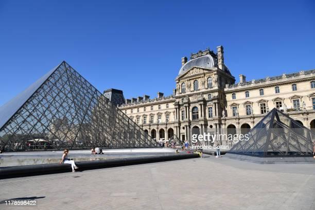 September 15 : The Louvre Museum in Paris on September 15, 2019 in Paris, France.