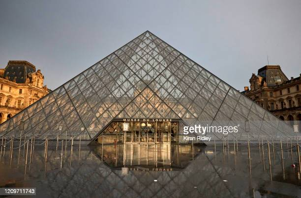 The Louvre Museum in Paris, the most visited Museum in the World, which shut today over concerns over France's coronavirus outbreak, after staff...