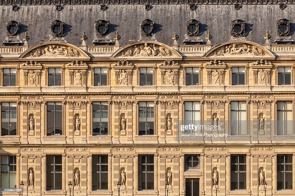 The Louvre Museum, Paris : Stock Photo