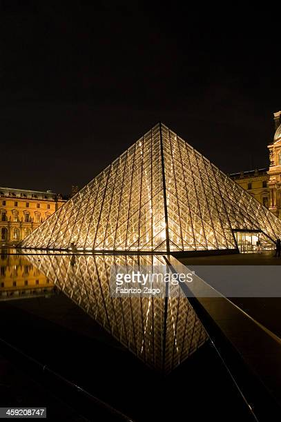 CONTENT] The Louvre Pyramid and its reflections in water