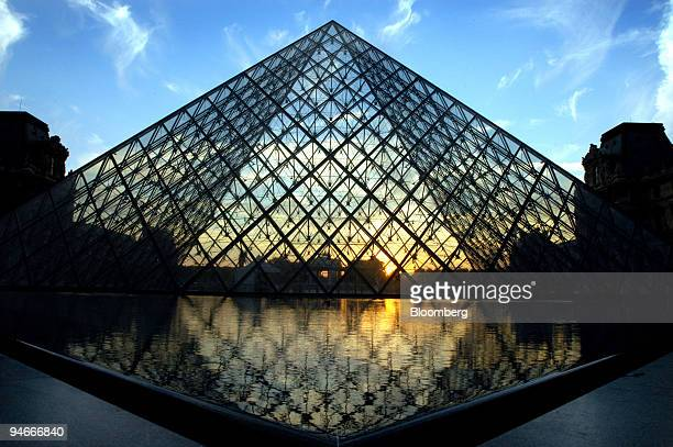 The LouvrePyramid is seen in the courtyard of the Louvre Museum in Paris France on Tuesday July 31 2007 The Pyramid built in 1989 and designed by I M...