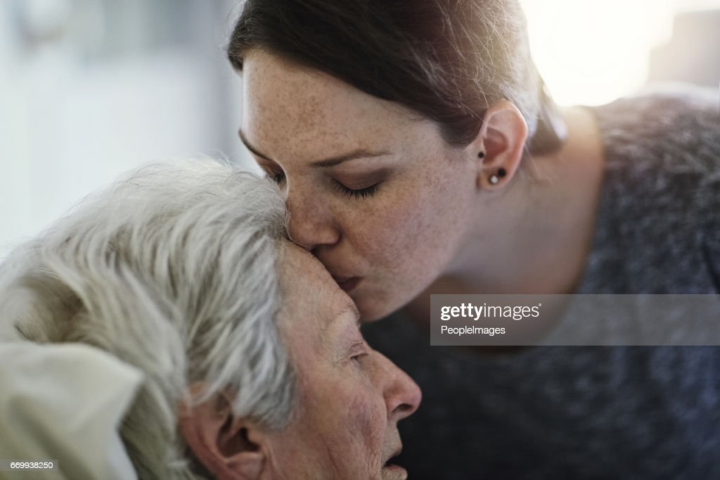 The love between a mother and daughter : Stock Photo