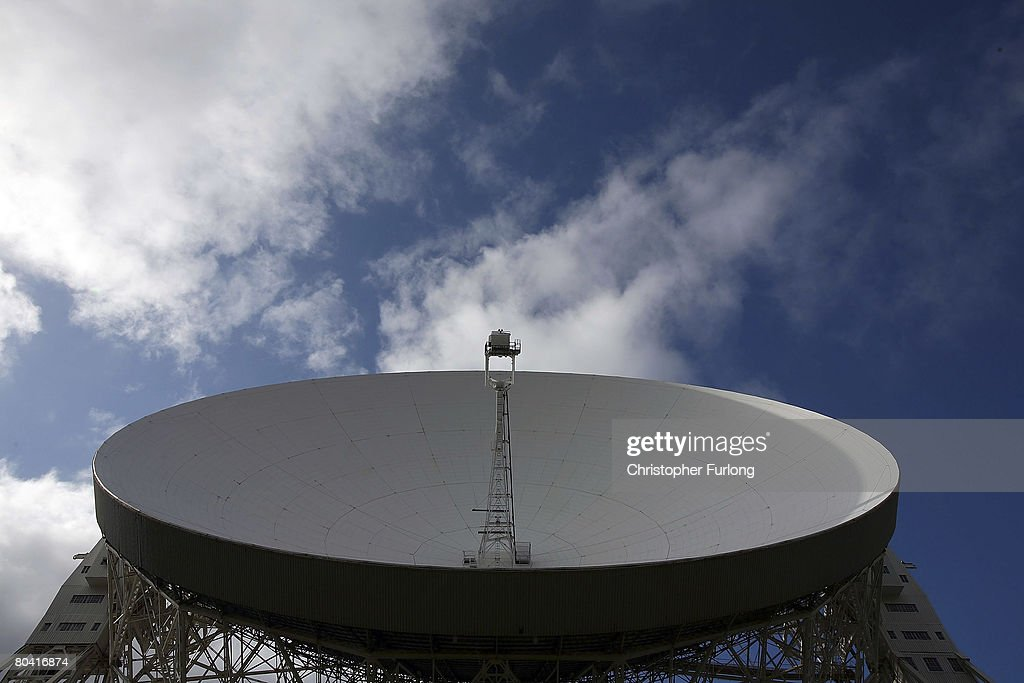 George Osborne Visits Jodrell Bank Which Faces Potential Closure : News Photo