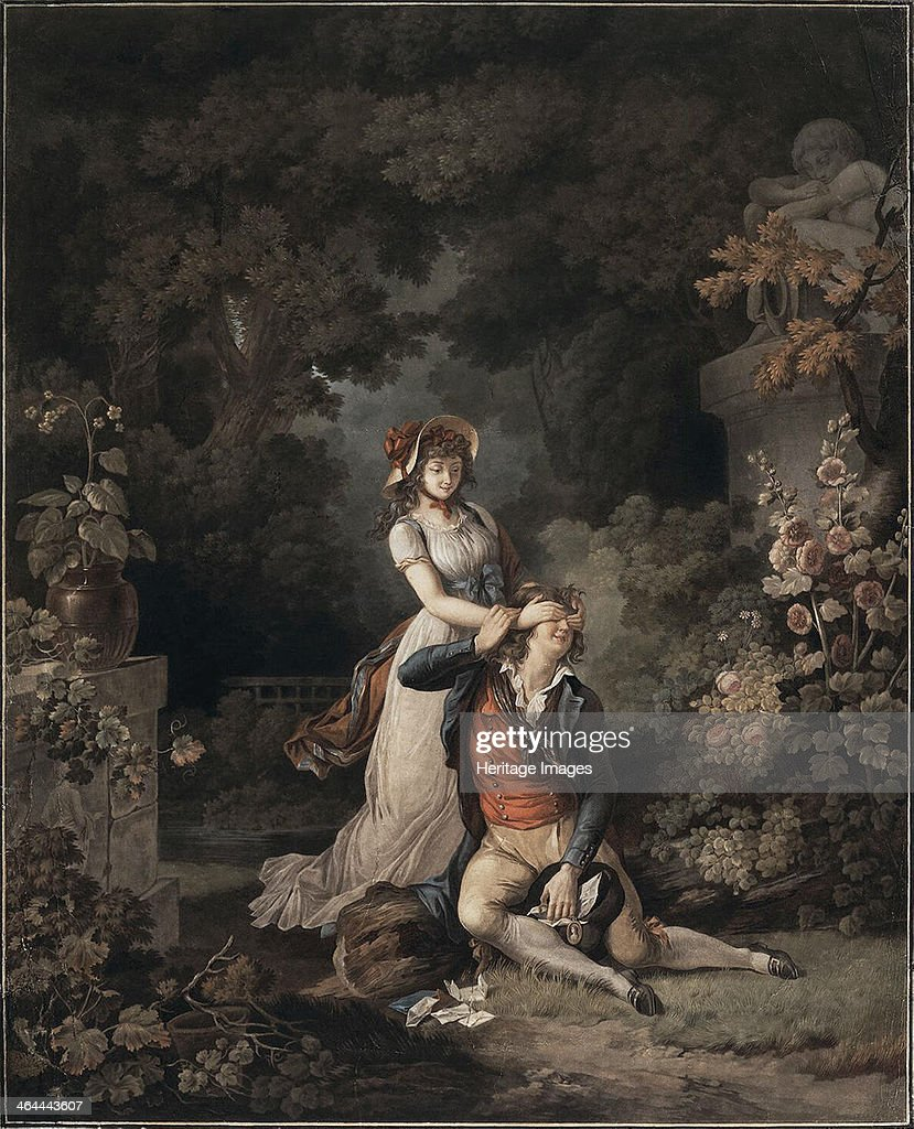 The Lover Caught Unawares', 1790s. : News Photo